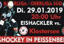 Nachholspiel gegen Klostersee findet am Dienstag den 29.01.2019 statt