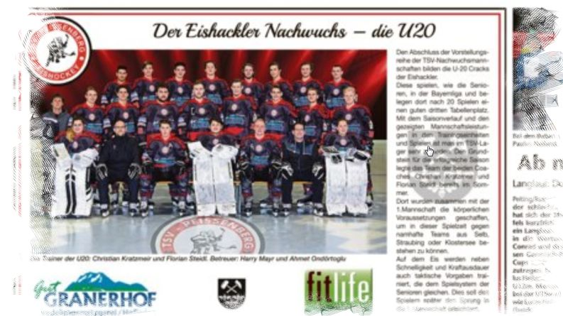 Vorstellung der U20-Eishackler im Kreisboten E-Paper
